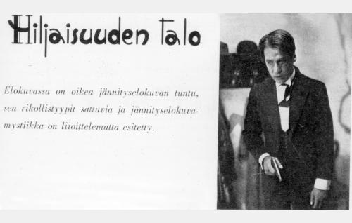 Elokuvan mainos Suomen Kinolehdessä 6/1933.