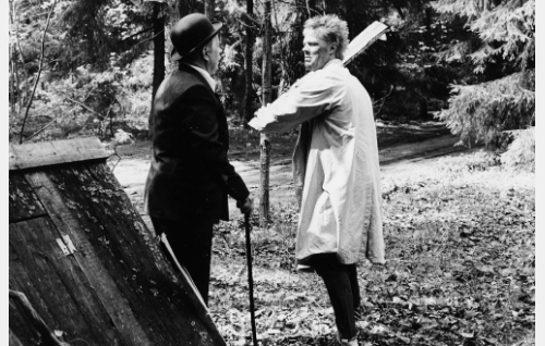 """insinööri Sörsselssön, """"Sörsseli"""" (Simo Salminen) ja Uuno Turhapuro (Vesku Loiri)."""