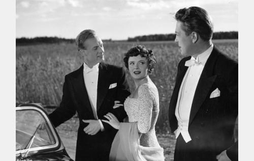 Kurt Ingvall, Ruth Johansson ja Erkki Viljos.