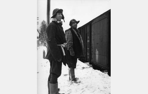 Yllön pojat Samu (Pertti Weckström) ja Salu (Matti Kuusla)