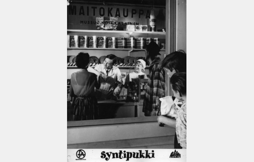 Mussu Koikkalaisen maitokauppa.