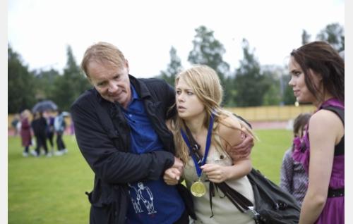 Seppo Pääkkönen, Ada Kukkonen ja Sara Melleri. Kuva: Solar Films / Jani Häkli.