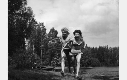 Martti Katajisto ja Pirkko Mannola.