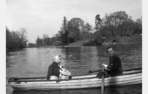 Elina Pohjanpää ja Leif Wager.