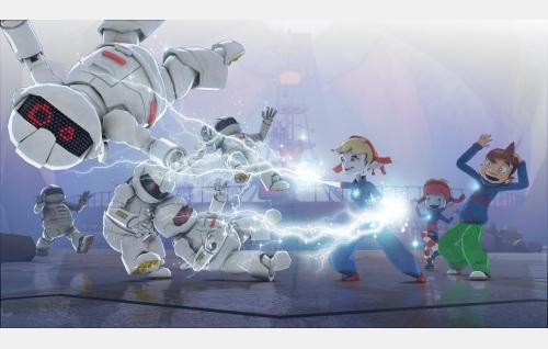 Jaga käyttää taikavoimaansa robolaisiin, oikealla Didi ja Yotan. Kuva: Epidem ZOT.