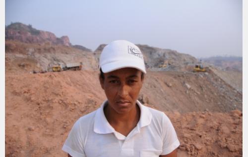 Neuci de Souza, brasilialainen kaivostyöntekijä. Kuva: Oktober Oy.