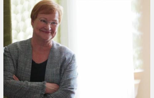 Presidentti Tarja Halonen. Kuva: Helsinki-filmi Oy.