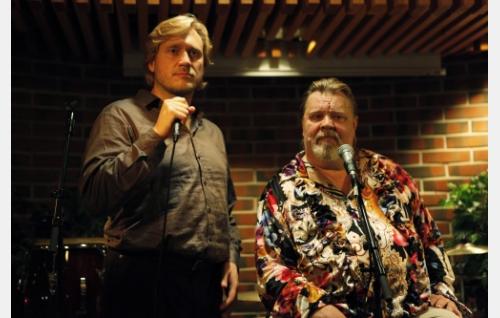 Timo (Samuli Edelmann) ja Leo (Vesa-Matti Loiri). Kuva: Veera Aaltonen / Marianna Films Oy.