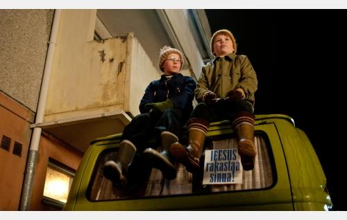 Naapurin kaksospojat (Niilo Lahtinen ja Eero Survo). Kuva: Peter Salovaara.