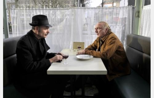 Monet (Jean-Pierre Darroussin) ja Marcel Marx (André Wilms). Kuva: Marja-Leena Hukkanen. © Sputnik Oy.