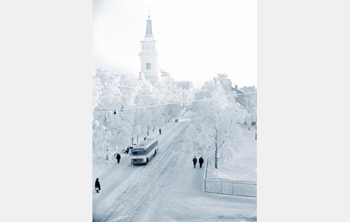 Talvinen Oulu. Kuva: Pohjois-Pohjanmaan museo / Uuno Laukka.