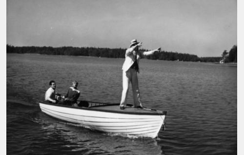 Tauno Palo, Leo Lähteenmäki ja Jalmari Rinne.