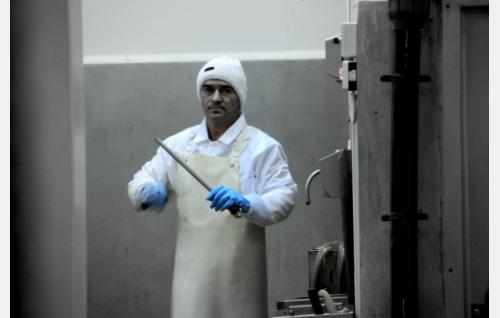Victor Damitoiv, romanialainen teurastaja. Kuva: Oktober Oy.