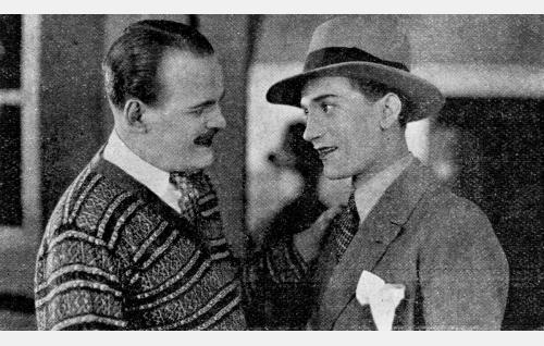 Eric H. Broman ja Halvar Lindholm.