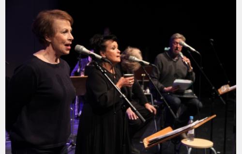 Kvartetti valmistautumassa Vappukonserttiin Kulttuuritalolla 2017. Kuva: Jouko Aaltonen.
