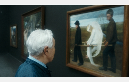 Hugo Simbergin Haavoittunut enkeli -maalaus Ateneumin taidemuseossa. Kuva: Making Movies Oy.