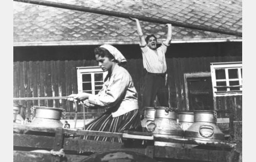Anneli Sauli ja Tauno Palo.