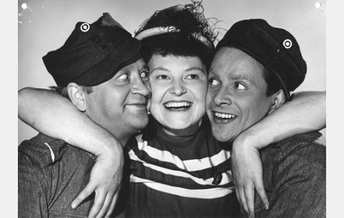 Pentti Viljanen, Rauha Rentola ja Sakari Halonen.