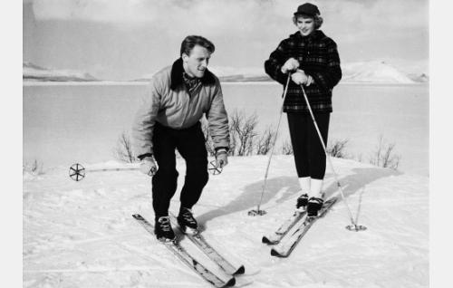 Åke Lindman ja Tuija Halonen.