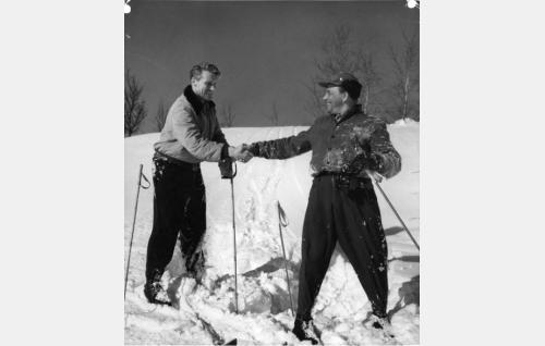Åke Lindman ja Olavi Virta