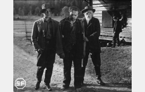 Eino Kaipainen, Kaarlo Angerkoski ja Aku Korhonen.