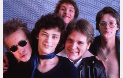 Martti Syrjä, Juha Torvinen, Pantse Syrjä, Mikko Saarela ja Aku Syrjä. Kuva: Seppo Pietikäinen (v. 1978) .