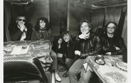 Martti Syrjä, Juha Torvinen, Pantse Syrjä, Mikko Saarela ja Aku Syrjä. Kuva: Konttinen (v. 1979).